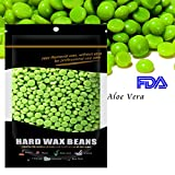 Waxkiss 300g Painless Hard Wax Beans Home Wax Kit for Body Hair Removal Workable for Sensitive Skin (Aloe Vera)