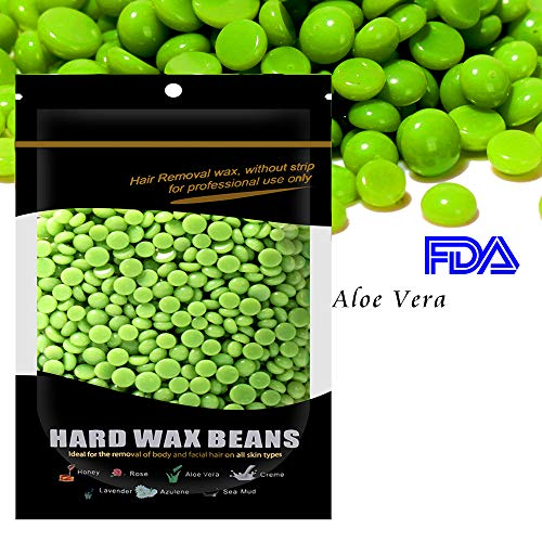 Waxkiss Hard Wax Beans FDA Certified Body Hair Removal Wax Beans for Home Waxing Heater Wax Warmer 300g for Bikini Arms Legs Upper Lip Eyebrows Armpit Hair Removal