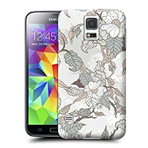 Unique Phone Case Flowers patteren Hard Cover for samsung galaxy s5 cases-buythecase
