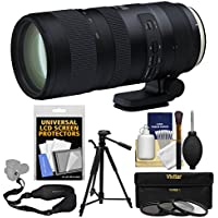 Tamron 70-200mm f/2.8 Di VC USD G2 Zoom Lens with 3 UV/CPL/ND8 Filters + Tripod + Sling Strap + Kit for Canon EOS Digital SLR Cameras