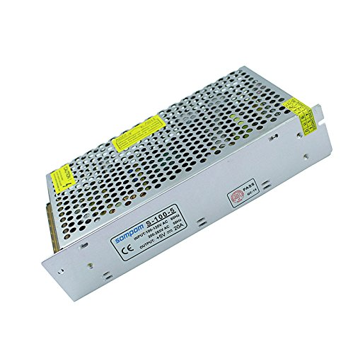 Tanbaby 5V 20A DC Universal Regulated Switching Power Supply 100w for CCTV, Radio, Computer Project
