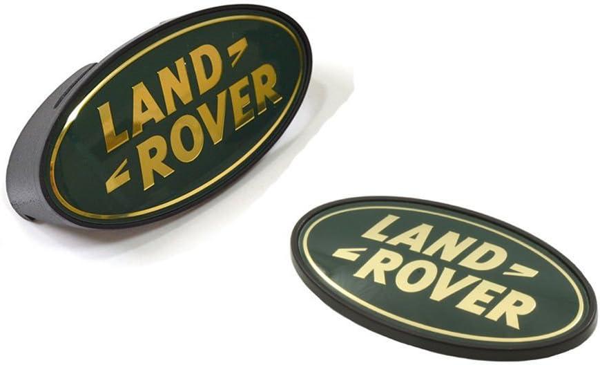 Land Rover Defender 90 Front Grille Emblem Green Gold Land Rover Oval Badge