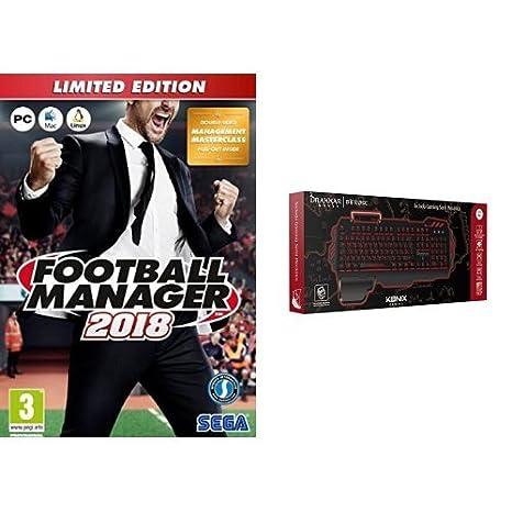Football Manager 2018 - Limited Edition + Konix Bifrost - Teclado semi mecánico, color negro: Amazon.es: Videojuegos