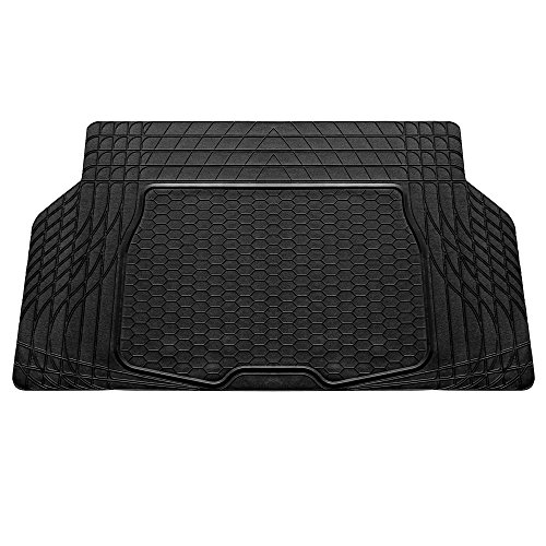 (FH Group F16403BLACK Cargo Mat Fits Most Sedans, Coupes and Small SUVs (Semi Custom Trimmable Vinyl Black) 55