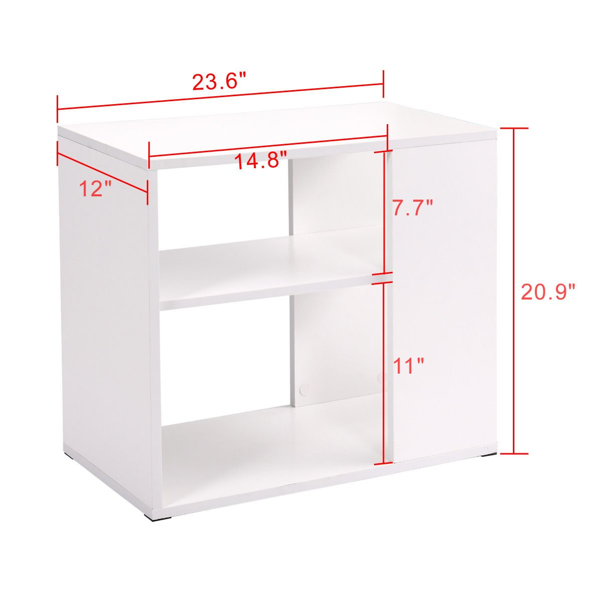 Side Sofa Table Coffee Tray Ottoman Couch Console Stand End Magazine Organizer White by Eramaix (Image #3)