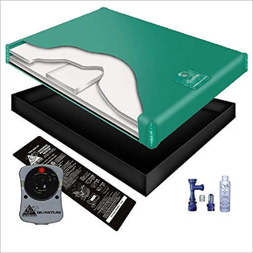 99% WAVELESS WATERBED MATTRESS / LINER / HEATER / FILL DRAIN / CONDITIONER KIT (California King 72x84 1G7G1) by INNOMAX