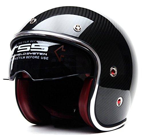 Motorcycle Street Bike Scooter Open Face 3/4 Adult Helmet ...