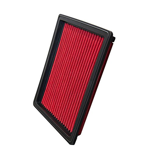 Upgr8 U8701-1501 Hd PRO OEM Replacement High Performance Dry Drop-in Panel Air Filter Red