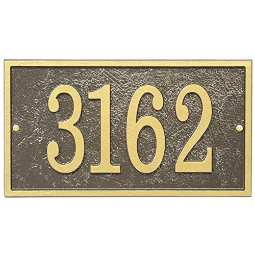 Whitehall Fast & Easy RECTANGLE House Numbers Plaque -