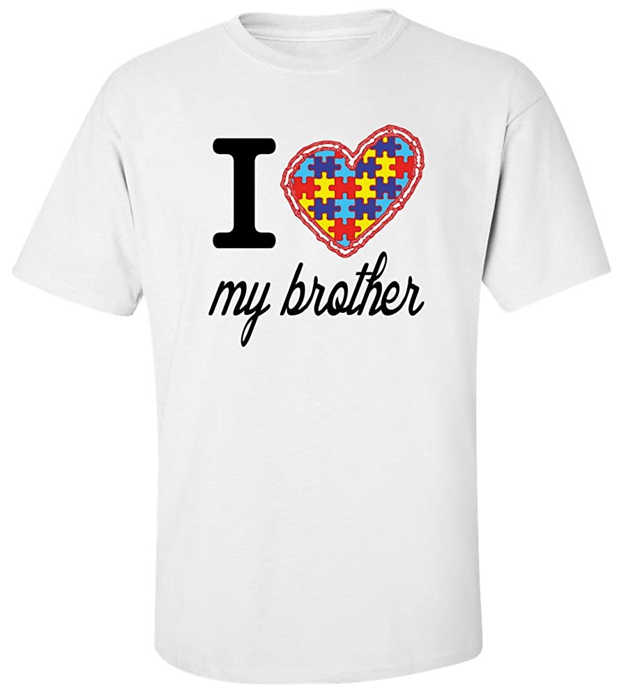 Amazon I Love My Brother Autism T Shirt Fwhite S Clothing