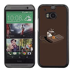 CaseCaptain Carcasa Funda Case - HTC One M8 / Funny Indiana Mouse Treasure /