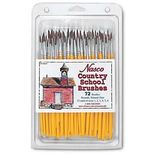 Nasco 72 Piece Country School Round Brush Set by Nasco