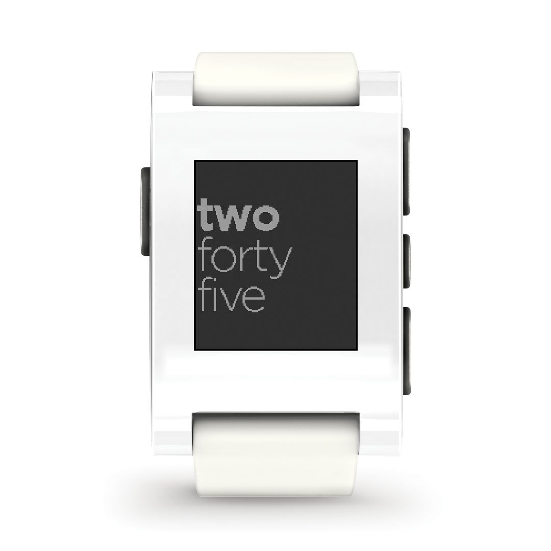 Pebble Smartwatch fÜr iPhone and Android (weiß)