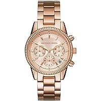 Michael Kors Women's Ritz Rose Gold-Tone Watch MK6357