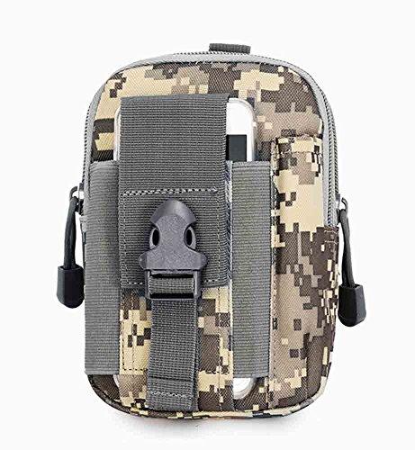 tacvasen senderismo táctico Molle bolsa utilidad EDC Gadget cinturón cintura bolsa con funda de teléfono móvil soporte, hombre, negro delete