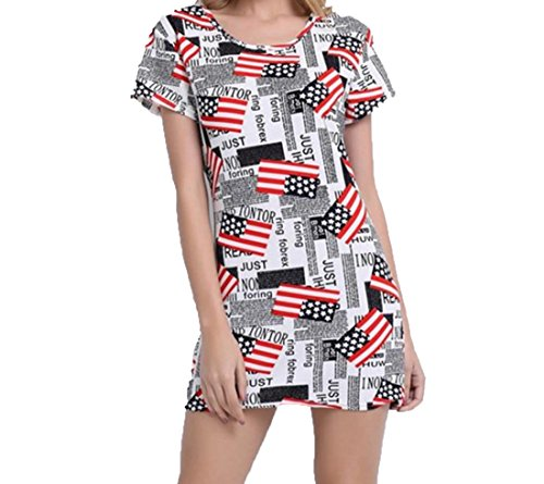 Aprilley-Womens-Novelty-USA-Flag-Short-Club-Dresses-Party-Dress