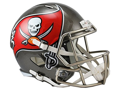 Red Nfl Replica Football - Riddell NFL Tampa Bay Buccaneers Full Size Replica Speed Helmet, Medium, Red