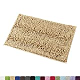 MAYSHINE 5080 Chenille Bathroom Rugs Extra Soft and Absorbent Shaggy Bath Mats Machine Wash/Dry, Perfect Plush Carpet Mat for Kitchen Tub, Shower, and Doormats