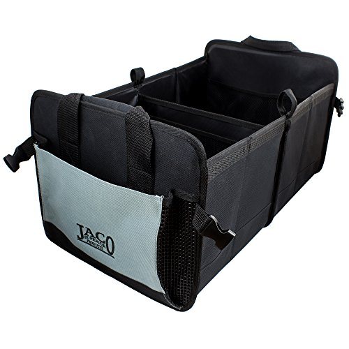 JACO CargoPro Trunk Organizer - Premium Auto Cargo Storage Container for Car, Truck, & SUV - Heavy Duty (Black/Grey) (Superior Car)