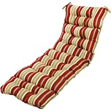 Greendale Home Fashions 72'' Outdoor Patio or Pool Chaise Lounger Cushion, Roma Stripe (OC4804-ROMASTRIPE)