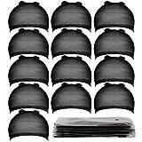 Teenitor 20 Pieces Wigs Cap, Black Stocking