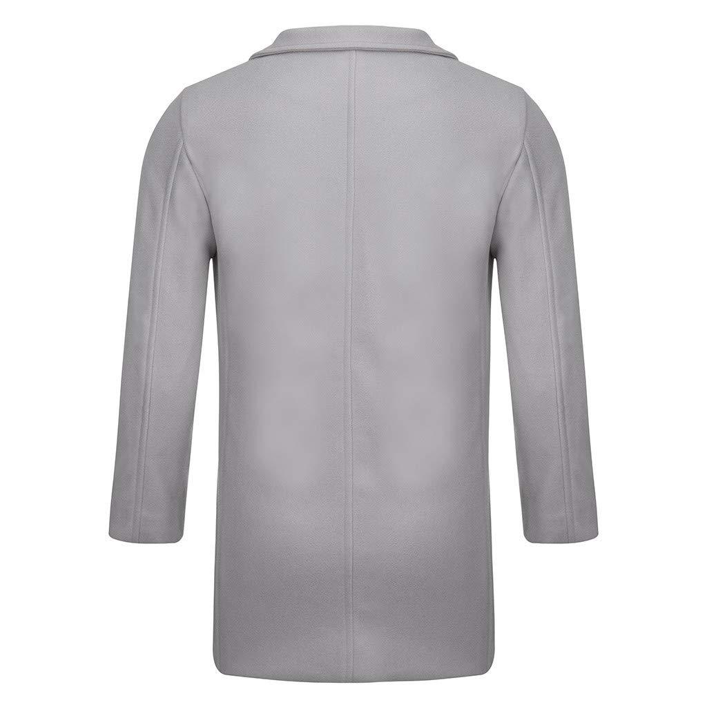 SPE969 Mens Cool Button Down Coat,Seven-Color Rainbow Stripes Slim Long Single-Breasted Woolen Windbreaker