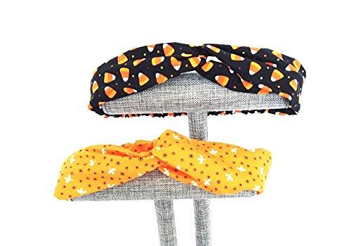 Orange Candy Corn Headband 3pcs different designs Cotton