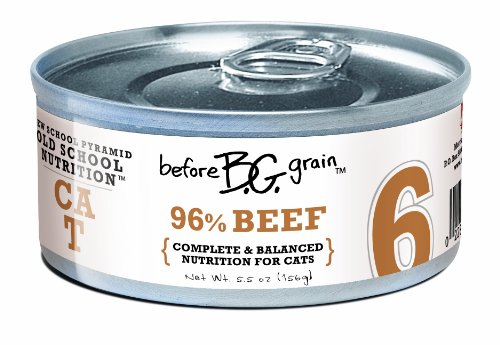 Merrick Before Grain #6 Beef Paté Style Cat Food, 5.5 Ounce Can (24 Count Case), My Pet Supplies