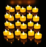 Atc Festival Led Tea Light Candles (Pack Of 24) / Party Candles / Led Candles Yellow Flame Less Smoke Free