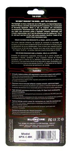 SureFire 6PX Tactical Single-Output LED Flashlight with anodizded aluminum body, Black by SureFire (Image #3)