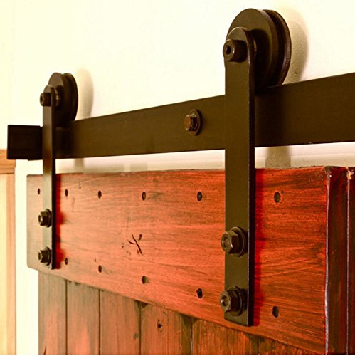 Antique Sliding Barn Door Hardware For Interior U0026 Exterior, No Noise Modern  Country Style Barn Wood Door Track Hardware Kit, Includes All Accessories  (Shape ...