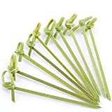 Natural bamboo appetizer picks with a twist on the end for your party or catered event! these bamboo picks will make any appetizer look especially tasty and attractive! each 4 inches long.