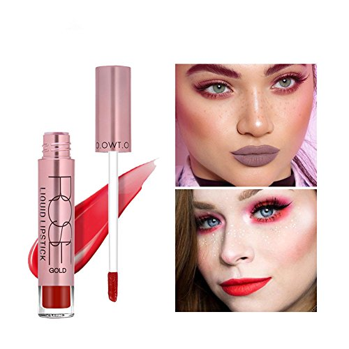 ELINKMALL Waterproof Long Lasting Matte Velvet Liquid Lipstick Lip Gloss (A11)