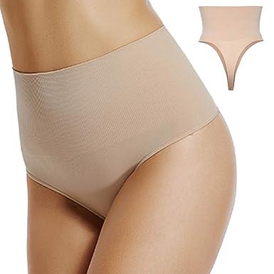 79d33a5bd23c High Waist Panties for Women Seamless Thong Tummy Control Underwear Slimmer  Girdle Body Shaper Shapewear Packs