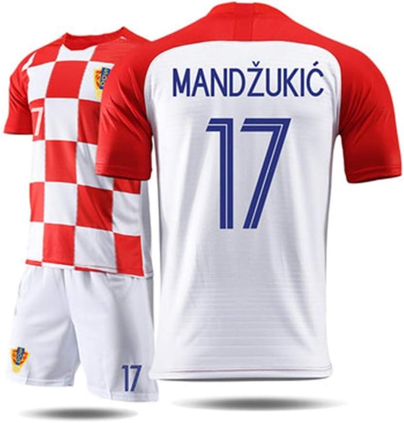Croacia Camiseta de Baloncesto Traje de Entrenamiento de f/útbol RENJUN Camiseta de Manga Corta para Hombre Traje Deportivo Color : A, Size : 2XL Camiseta de la Copa Mundial de Croacia