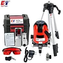 Kaitian Cross Lines Laser Level Self Leveling Rotary Lasers with Tripod and Receiver Detector Combo Set