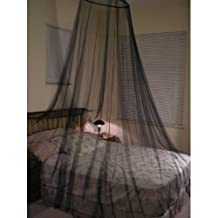 Octorose ® Round Hoop Bed Canopy Netting Mosquito Net Fit Crib, Twin, Full, Queen, King (Black)