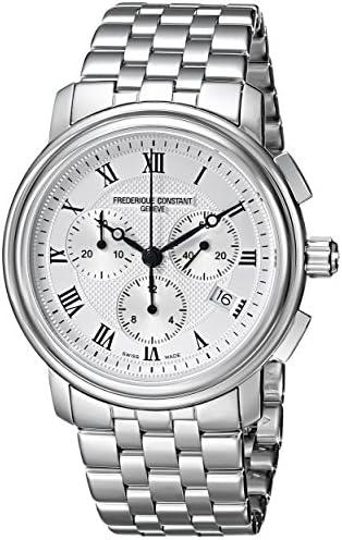Frederique Constant Men s FC292MC4P6B2 Classics Analog Display Swiss Quartz Silver Watch