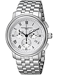 Frederique Constant Mens FC292MC4P6B2 Classics Analog Display Swiss Quartz Silver Watch