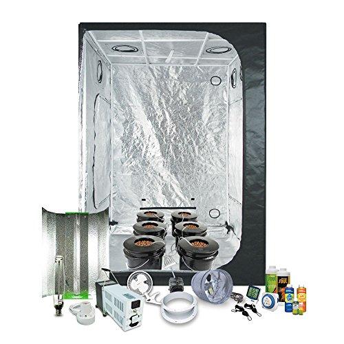 lazy_placeholder  sc 1 st  Growing Dank! & Complete 4.5 x 4.5 (55u2033x55u2033x79u2033) Grow Tent Package With 1000-Watt ...
