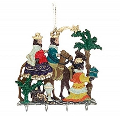 Three Kings with Gifts Christmas German 3D Pewter Ornament W