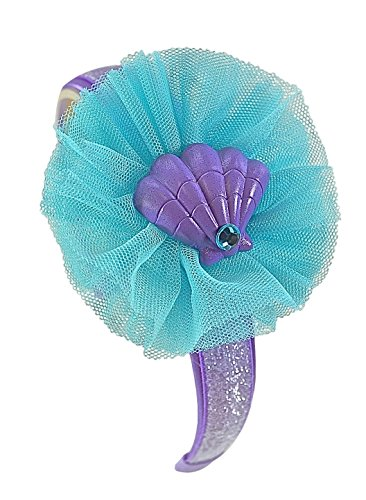 [Little Mermaid Inspired Sparkling Glitter Tulle Girls Arch Headband] (The Little Mermaid Costume)