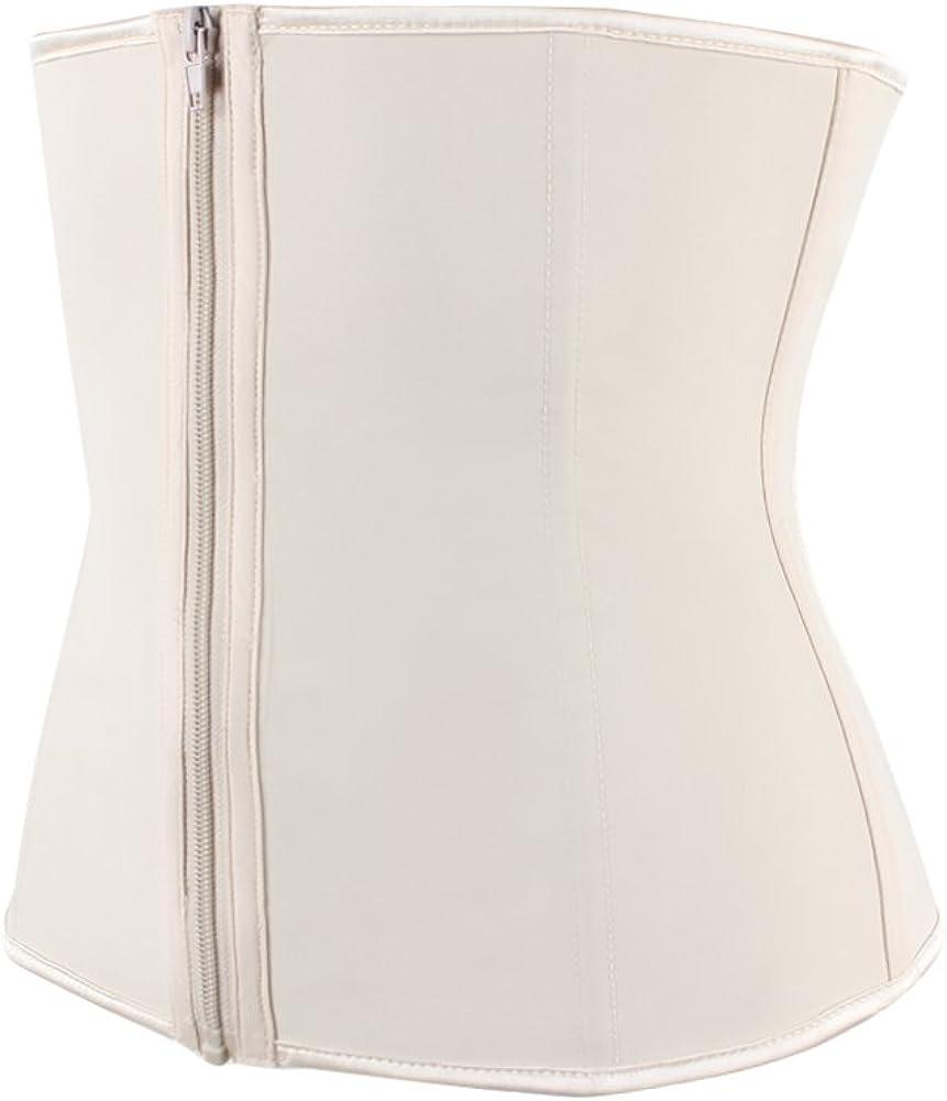 Sweetlover Waist Cinchers Women Latex Waist Corset Adjustable 3 Hook/&Eye Closure Waist Trainer 9 Flexible Bones Body Shaper