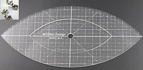 Sew-Link 3mm Acrylic Patchwork Quilting Template Ruler Arc for Domestic (Household) Sewing Machines by SEW-LINK