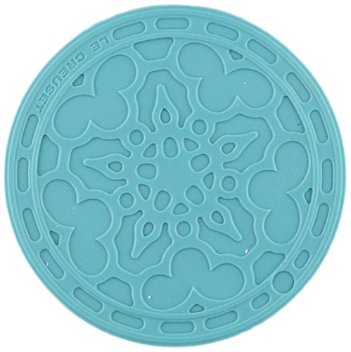 Le Creuset Silicone Set of 4 French Coasters, Caribbean