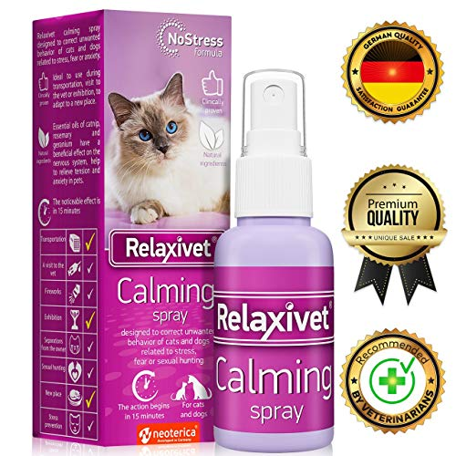 Relaxivet Natural Calming Spray for Cats and Dogs with a Long-Lasting Calming Effect - #1 Spray for Stress and Anxiety - Anti-Anxiety Spray for Pets from Relaxivet