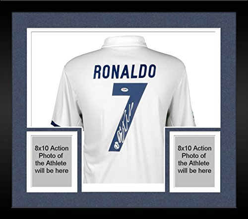 Framed Cristiano Ronaldo Real Madrid Autographed 2016-17 ...