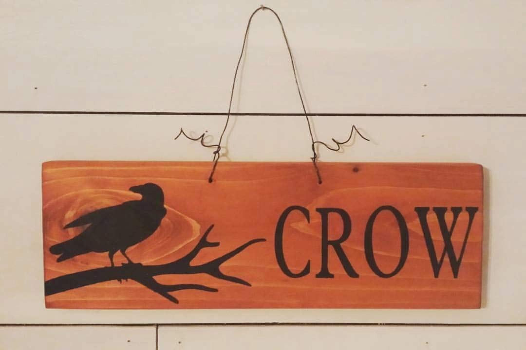 62a60909 Emily Crow Halloween Decor Porch Decor Fall Signs Halloween Signs Black  Crow Fall Decor Autumn Signs Rustic Sign Funny Quote and Sayings Plaque  Home Craft ...