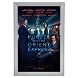 SnapeZo Movie Poster Frame 27x40 Inches, Silver 2.2'' Aluminum Profile, Front-Loading Snap Frame, Wall Mounting, Super-Wide Series for One Sheet Movie Posters