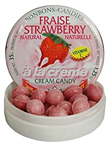 Rendez Vous Sugar Free Strawberries and Cream Pastilles from France